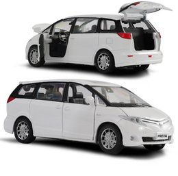 toyota toy car models NZ - Hot sale High simulation Toyota Previa model 1:32 alloy pull back car toy,diecast metal model vehicle,wholesale Y200109