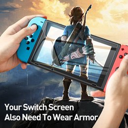 Wholesale New product 2Pcs 0.3mm Screen Protector for Nintend Switch Tempered Glass Protective Glass for Nintendos Switch NS Screen Protection