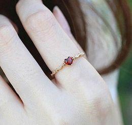 Gemstone Ring Size Gold Australia - Triple Heart Cut Wedding Ruby Spinel & White Gemstone Ring Diamonds 14K Gold-Plated Size 6 7 8 9 10