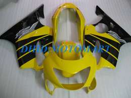 Honda F4 Yellow Australia - Injection Customized Fairing set for HONDA CBR600F4 99 00 CBR600 F4 1999 2000 CBR 600 F4 600F4 CBR600 yellow black Fairings body kit HP49