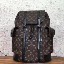 7117247700a Wholesale 66LOUIS VUITTON old flower CHRISTOPHER backpack michael shoulder  LOUIS A bag kor travel bag leatehr uggage package LOUIS clutch