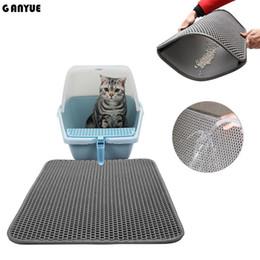 Double layer Foldable Waterproof Removable Cat Litter Mat Pet Little Cat Kitten Litter Trapper Catcher Mat on Sale