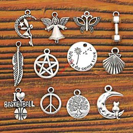 $enCountryForm.capitalKeyWord Australia - mix tibetan silver Mixed Tibetan Silver Plated Angel Tree of Life Shell Peace Leaf Charms Pendants Jewelry Making Diy Charm Handmade Crafts