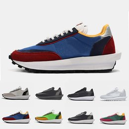New Varsity Blue Sacai X LDV Waffle Mens Running Shoes For Women Wolf Grey Triple Black white Pine Green Gusto outdoor Sports Sneakers on Sale