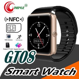 $enCountryForm.capitalKeyWord Australia - GT08 Bluetooth Smart Watch with SIM Card Slot and TF Health Watchs for Android Samsung and IOS Apple iphone Smartphone Bracelet Smartwatch