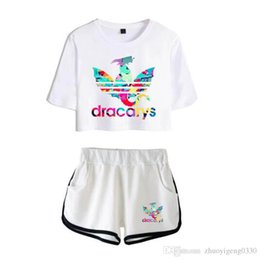 Wholesale Two piece Set Dracarys New Fashion Summer Short Sleeve Crop Top Shorts Arrival Hot Sale Casual Streetwear Clothes Women Suit