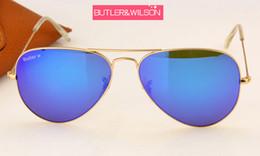$enCountryForm.capitalKeyWord Australia - Wholesale-women men blue green purple orange flash mirror sunglasses metal gold frame best quality brand designer pilot sun glasses 58mm