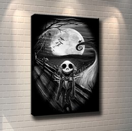 Framed Christmas Paintings Australia - (Unframed Framed) Nightmare Before Christmas Jack,1 Pieces Canvas Prints Wall Art Oil Painting Home Decor 24X36.