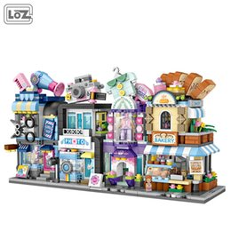 building blocks toy store Australia - LOZ Hair Salon, Bakery Building Blocks Model, Mini DIY Photo Studio, Clothing Store, Developmental Toy, Ornament for Xmas Kid Birthday Gifts