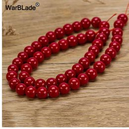 8mm Red Coral Beads Australia - WarBLade Natural Stone Red Coral Beads Round Loose Beads 4mm 6mm 8mm 10mm For DIY Bracelet Necklace Jewelry Making Findings