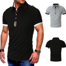 $enCountryForm.capitalKeyWord Australia - Polo Shirts Men 2019 Summer Brand Man Polo Shirt Business Casual Cotton Shirt Grey Black M-XXL
