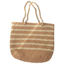 $enCountryForm.capitalKeyWord UK - Capacity Net Shopping Bags Cotton Rope Shoulder Bags Weave Knitting Handbag Hollow Out Summer Beach Cheap Straw