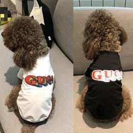 $enCountryForm.capitalKeyWord Australia - High Quality Teddy Dog Casual Apparel Summer Fardo Cat Small Dog Pet Clothes Thin Cotton Summer t-Shirt 2 Colors