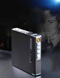$enCountryForm.capitalKeyWord Australia - Hot sale 2019 Cigarette Case Box Lighter With Flameless Removable Electronic Lighter Windproof USB Lighter 20pcs Cigarette Holder Case