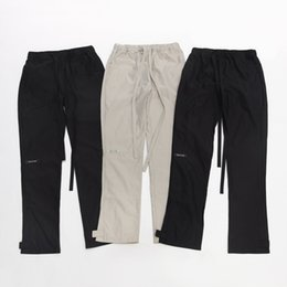 mens high waist trousers Australia - Mens Designer Pants FOG Season 6 Streamers High Street Tooling Trousers Casual Track Pants Elastic Waist Fashion Brand Sweatpants