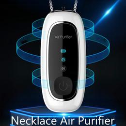 Toptan satış Hava Arıtma USB Taşınabilir Kişisel Giyilebilir Kolye Negatif Ionizer Anyon Hava Temizleyici Spreyi Hiçbir Gürültü Yok Radition NOT NEWESET Ekran ile