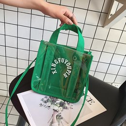 $enCountryForm.capitalKeyWord Australia - Pretty2019 Canvas Bag Woman Western Style Transparent Letter Small Square Package Hundred Take The Hand Bill Of Lading Shoulder Satchel