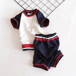 Microfiber Sport Clothes Australia - free shipping boy t-shirt + Pants Set and girl t-shirt +skirt Set new Kids Brand Children's Baby Boys girls Clothing Sets Sports suit