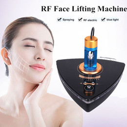 wrinkle spray Australia - Photon Blue Light Radio Frequency RF Facial Beauty Machine Nano Mist Spray RF Face Lifting Wrinkle Removal Skin Rejuvenation Device