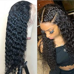 $enCountryForm.capitalKeyWord Australia - Deep part Curly Human Hair Wigs 130 density Wet Wavy Lace Front Wigs Brazilian Lace Frontal Wig Remy Hair Pre Plucked 360 wig