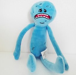 Toy Mr Australia - Rick And Morty Happy & Sad Mr. Meeseeks Stuffed Plush Toy Kids Gift 9.8 inch(25cm)