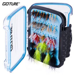 $enCountryForm.capitalKeyWord Australia - Lures Goture Fly Fishing Flies Kits 32 60 Pieces Mixed Wet Dry Flies Bass Trout Hand Made Fly Fishing Lure With Waterproof Box