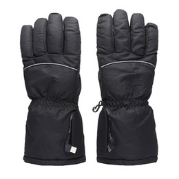 ElEctric warming glovEs online shopping - Finger Electric Gloves comfort plus velvet thermal Ski Gloves Thick Heating winter Keep warm