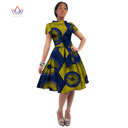 $enCountryForm.capitalKeyWord Australia - WholeSale Africa Dress For Women African Wax Print Dresses Dashiki Plus Size Africa Style Clothing for Women Office Dress WY082