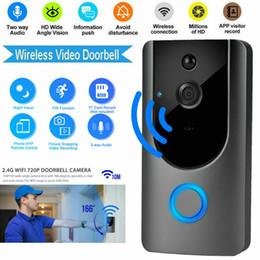 Опт Smart Wireless Wi-Fi Видео Дверной звонок HD Камера безопасности с PIR обнаружение ночного видения Двухстороннее видео и видео в режиме реального времени