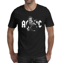 Guitar Fashion Australia - ACDC Angus rock band guitar 2019 Summer make a T Shirt For Men band fashion shirts