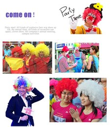 Wholesale Halloween Funny Circus Clown Wigs Disco Explosive Caps for Explosive Head Wig Dance Wedding Party Dress Performance Props VT0113