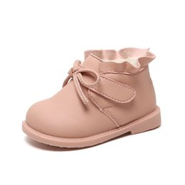 New boys koreaN shoes online shopping - 2019 autumn winter new old baby short boots toddler soft sole plus velvet princess cotton boots Korean version of baby shoes