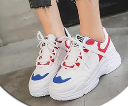$enCountryForm.capitalKeyWord NZ - Sports Shoes Female Spring and Summer 2019 New Korean Edition Daddy Shoes Leisure Fashion Sports Outside Lace Leather Female Shoes