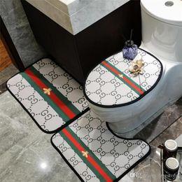 Son Arı Çizgili Baskılı Odası Mats INS Stil Tasarımcı Klozet Kapak Klasik Kaymaz Desen Banyo Aksesuarları
