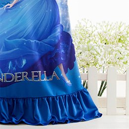 silk nightie Australia - 2019 Fashion Style Cinderella Pattern Girls Nightgowns Children Party Dresses Sleepwear Pajamas Baby Girls Nightie Dress Pyjamas