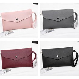 Color Leather Bags Australia - Wholesale Women Female Pu Leather Handbag Ladies Girls Solid Color Phone Coin Small Purse Long Wallet Crossbody Bags Popular Fa$