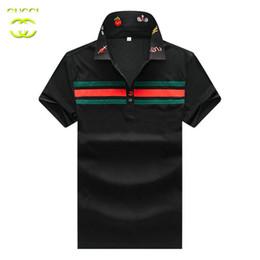 Men Brand T Shirt Australia - GG T shirt Brand mens Tshirts Fashion New Famous Designer Tshirt quality cotton men lapel polo shirt classic bee embroidery logo tees shirt
