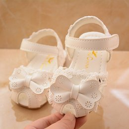 Baby Girl Cute Sandals Australia - Cute Baby Girl Shoes Summer Children kids designer shoes girls sandals White Bow Lace Princess Sandals for Girls Toddler sandales enfants