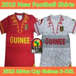 Football Uniforms Australia - 2019 Guinea Africa Cup of Nations Soccer Jersey 19 20 Guinea National Team Soccer Shirt Short sleeve Football uniform sales