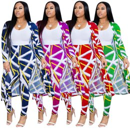 Wholesale american coat size for sale – custom Women plus size designer piece set Cardigan pants fashion suit outwear leggings outfits coat cloak bodycon bodysuits summer clothes