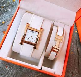 $enCountryForm.capitalKeyWord Australia - 2 sets Top brand ladies watch & Bracelet luxury fashion wristwatches for women Valentine Gift with gift box Water Resistant Montre Femme