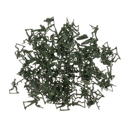 toy world war UK - 4cm Plastic Army Men Action Figures World War II Soldiers Toy - 120 Pieces Army Green