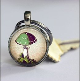 Special Figure Australia - Mushroom Keychain,Beautiful Mushroom Keyring,Vintage Art Keychain,Special Keychain,Keychain Accessories,Antique Pendant,Vintage Art picture,
