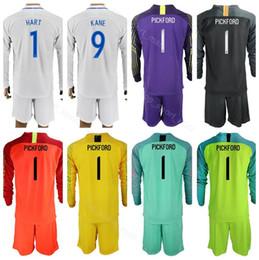 0b8678a329f full sleeve jersey soccer 2019 - Long Sleeve Set 1 PICKFORD Jersey Men  World Cup 2018