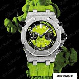 $enCountryForm.capitalKeyWord Australia - 42mm Royal Oak Diving 300M 26703ST.OO.A038CA.01 chronograph sports automatic movement designer mechanical watch green Dial Rubber Strap A10