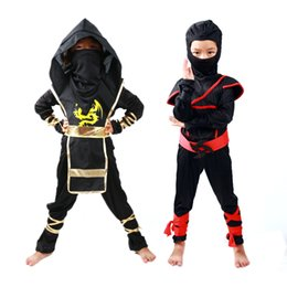 Discount ninja clothing - Kids Ninjago Clothes Sets Ninja Costumes Christmas Party Boys Girls Warrior Stealth New Year Purim Cosplay Assassin Cost