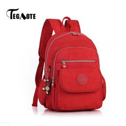 $enCountryForm.capitalKeyWord Australia - Tegaote Women Small Backpack For Teenage Girl Backpacks Bag Mini Mochila Feminine Bolsa Casual Nylon Waterproof Bagpack 2019 Y19061204