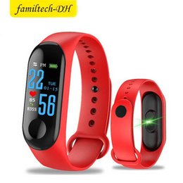 $enCountryForm.capitalKeyWord NZ - M3 Smart Bracelet Fitness Tracker with Heart Rate Watches for MI3 Fitbit XIAOMI APPLE Watch Colorful LCD Display with Retail Box