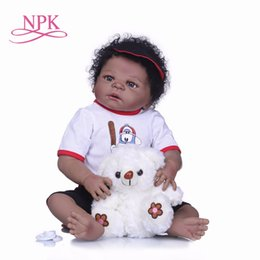 7bedddf1f NPK 55cm Full Silicone Body Reborn boy Bebe Doll Toy Like Real 22inch  Newborn Princess Babies Doll Bathe Toy Kid Gifts for girls