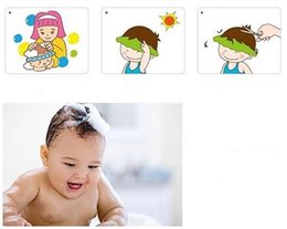 child shampoo shield NZ - Shower cap protect Shampoo for baby health Bathing bath waterproof caps hat child kid children Wash Hair Shield Hat